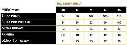 Tehotenské/Na dojčenie - Tehotenské šaty DENIM BELLY - 11737879_