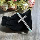 Náramky - Náramok na ruku krížik - 11738403_
