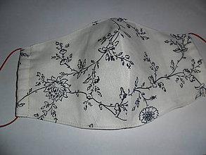 Rúška - Bavlnené rúško dvojvrstvové dámske. - 11740952_
