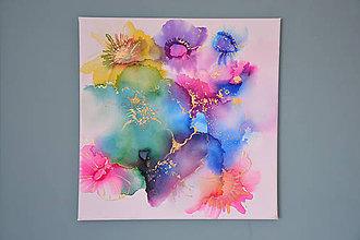 Obrazy - AKCIA - Kvety, maľba na plátne - 11739688_