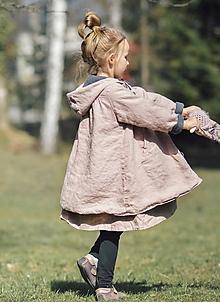Detské oblečenie - Lněný oboustranný kabátek - 11737494_
