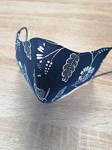 Rúška - modrotlačové rúško 2-vrstvové na vkladanie  (dámske) - 11738785_