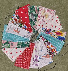 Rúška - 2-vrstvové bavlnené rúška (balíček 10ks) - 11741241_