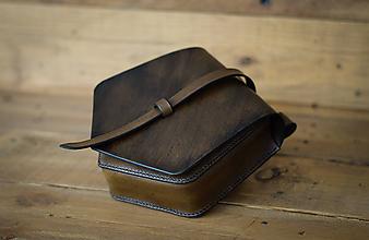 Iné tašky - Kožená kapsa na opasok (hnedá) - 11740462_