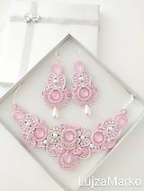 Náhrdelníky - Perla náhrdelník (Ružová+ biela) - 11740646_
