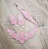 Náhrdelníky - Perla náhrdelník (Ružová+ biela) - 11740649_
