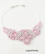 Náhrdelníky - Perla náhrdelník (Ružová+ biela) - 11740650_