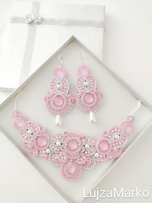 Perla náhrdelník (Ružová+ biela)
