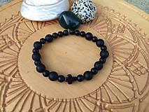 Náramky - pánsky náramok (ruženec) (Čierna) - 11738904_