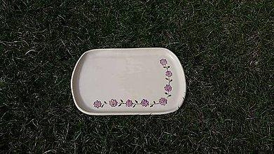 Nádoby - Raňajkový tanier Fialôčka - 11745882_