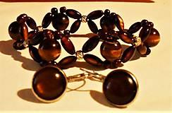 Sady šperkov - Tigrie oko - 11742924_
