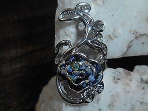 Prstene - blue rosa-ruža -prsteň-opals - 11746030_