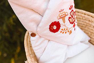 Textil - Vyšívaná ľanová zavinovačka - 11744416_