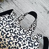 Batohy - Ruksak CANDY backpack - leopardí vzor so srdiečkami (hnedý prechod) - 11744005_