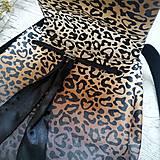 Batohy - Ruksak CANDY backpack - leopardí vzor so srdiečkami (hnedý prechod) - 11744007_