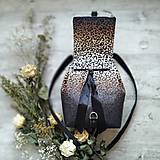 Batohy - Ruksak CANDY backpack - leopardí vzor so srdiečkami (hnedý prechod) - 11744008_