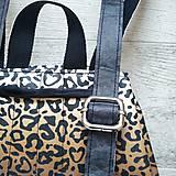 Batohy - Ruksak CANDY backpack - leopardí vzor so srdiečkami (hnedý prechod) - 11744015_