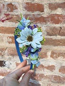 Ozdoby do vlasov - Modrá margaréta - 11744905_