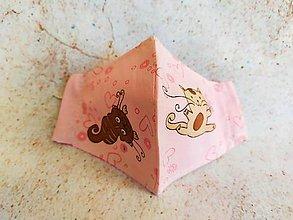 Rúška - I love cat! Detské rúško - 11744035_