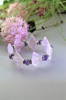 Náramky - ruženín a jadeit náramok luxusný - 11742097_