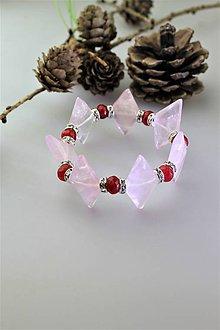 Náramky - ruženín s červeným jadeitom náramok luxusný - 11745315_
