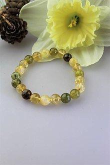 Náramky - zelený granát a citrín náramok - 11745866_