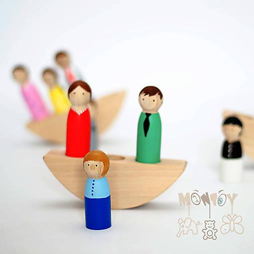 Hračky - Rodinka na loďke  - 11742917_