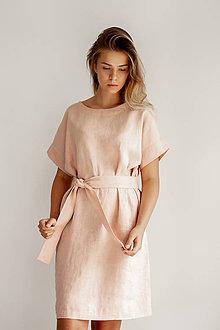 Šaty - Ľanové šaty Freedom - 11745890_