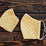 Rúška - Rúško béžové bodkované ~ dvojité na filter - 11742235_