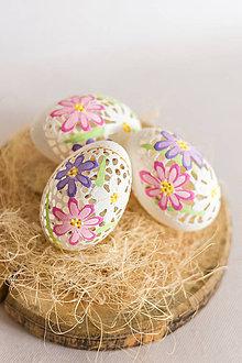 Dekorácie - husacie kraslice kvety - 11743432_