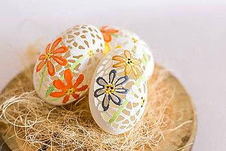 Dekorácie - Husacia kraslica kvety - 11744841_