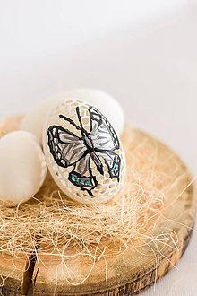 Dekorácie - Husacia kraslica motýľ - 11744907_