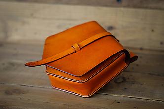 Iné tašky - Kožená kapsa na opasok (ryšavá) - 11741820_