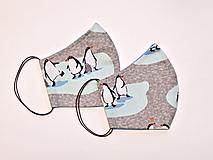 Textilné rúško na tvár dvojvrstvové PINGUIN