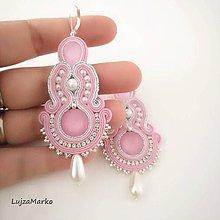 Náušnice - Perla (Ružová + biela) - 11744995_