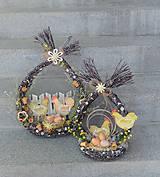 Dekorácie - závesné prútené veľkonočné vajíčko - 11747252_