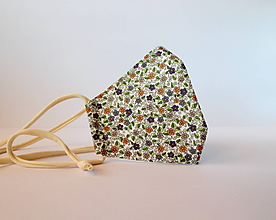 Rúška - rúško/hranaté-kvety - 11749133_