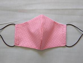 Rúška - Rúško tvarované ružová bodka - 11747320_