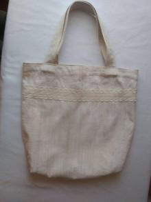 Veľké tašky - Ľanová taška 2 - 11748986_