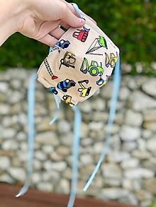 Rúška - Detské rúško s autíčkami - 11749570_