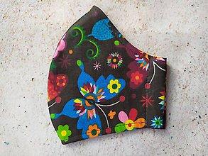 Rúška - Motýle na čiernom podklade, rúško na objednávku - 11748077_