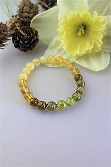 Náramky - zelený granát s citrínom náramok - 11747011_