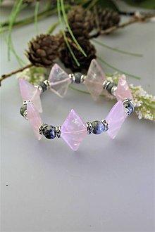 Náramky - ruženín a jaspis náramok luxusný - 11749863_