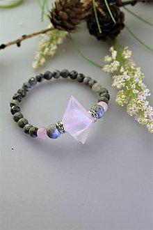 Náramky - ruženín s jaspisom náramok - 11749975_