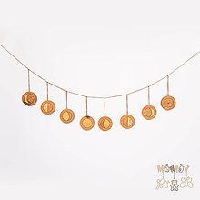 Hračky - Fázy mesiaca - dekorácia na stenu - 11746447_