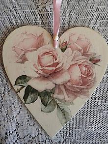 Dekorácie - Dekorační srdíčko Roses2 - 11749483_