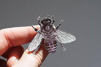 Odznaky/Brošne - Odznak Včela medonosná - 11746765_