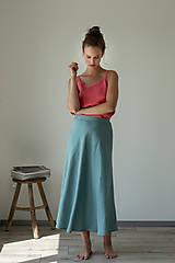 Sukne - Ľanová sukňa Campana dlhá - 11747842_