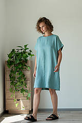 Šaty - Ľanové šaty Freedom - 11750271_