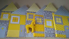 Úžitkový textil - Zástena za posteľ č. 6 - 11749200_